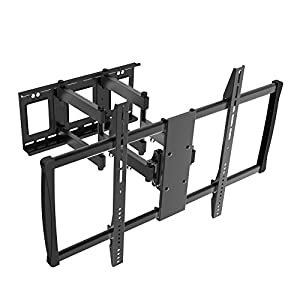 Aticulating Full Motion TV Wall Mount(05424A). Tilt 15°,Swivel 45°,Fits for 60 to 100 inch LED LCD Plasma Monitor,VESA up to 600X900,Cold-Rolled Steel Material,Max Load 176 Lbs.Power by ProHT