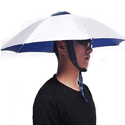 Foldable Headwear Sun Umbrella Hats Cap Hands Free for Fishing Hiking Beach Camping Outdoor Sport