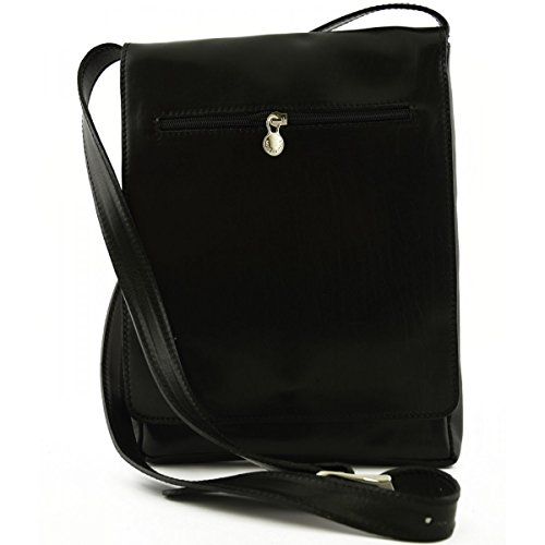 Tuscan Made Color Man Tablet Bag In Ipad And For Genuine Italy Black Leather 7Zw7q