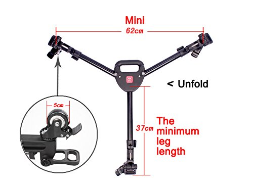Tripod dolly Diat DW -60 Professional Tripod Dolly for Camera Photo Video Camera dolly Tripod with wheels