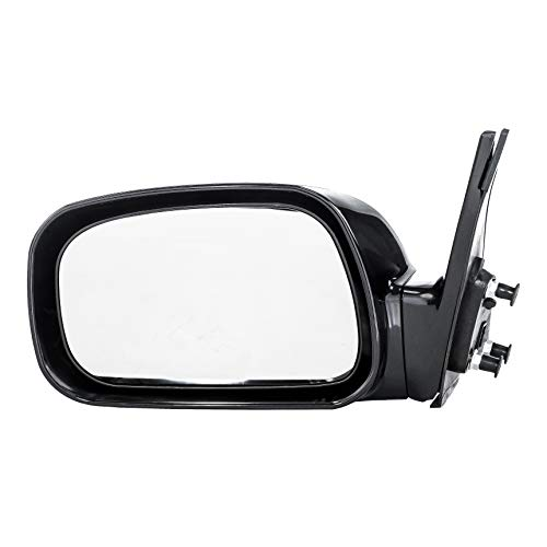 2002 Left Door Mirror - Dependable Direct Left Driver Side Black Power Operated Non-Folding Door Mirror for Toyota Camry USA Built (2002 2003 2004 2005 2006) - Part Link #: TO1320167