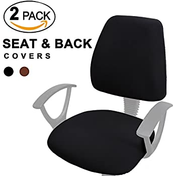 amazon com office chair seat cover black kitchen dining