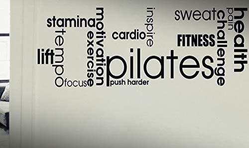 Pegatinas De Pared Frases Palabras De Pilates Cardio Push