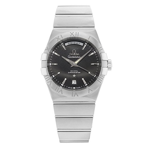Omega Constellation Day Date Automatic Black Dial Stainless Steel Mens Watch -