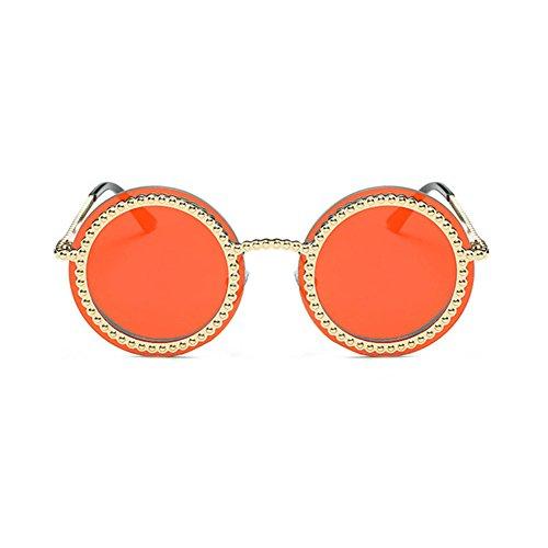 Aoligei L'Europe et l'imitation de métal fashion États-Unis gear Dame lunettes de soleil tendance Street Clap lunettes de soleil couleur lumineuse Sungla Petites entreprises 5b8u2vPH