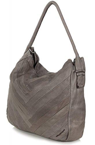 FredsBruder da donna in pelle Tasche Vivid Grey Marble (Grigio)