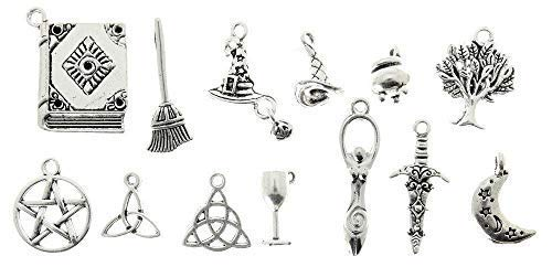 AVBeads 100 Piece Mixed Pagan Wiccan Charms Sets -