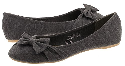Capelli New York Ladies Cotton Jersey Flat Grey - New Mall York Jersey