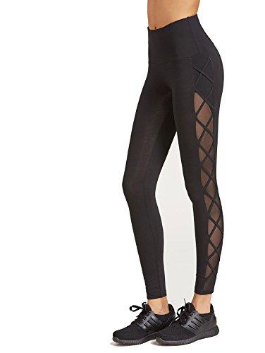 SweatyRocks Women's Mesh Panel Side High Waist Leggings Skinny Workout Yoga Pants