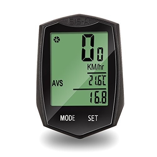 Haslo tech Bicycle speedometer and odometer wireless waterproof Multi-function Bike Computor Large LCD Backlight Auto Wake-up by Haslo tech