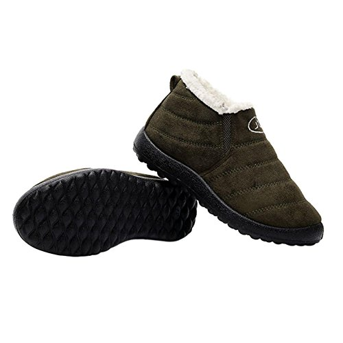 Thick Ankle Shoes Winter Boots Snow Women Hzjundasi Slip Green Non POwqSS