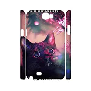 Cat CUSTOM 3D Phone Case for Samsung Galaxy Note 2 N7100 LMc-85834 at LaiMc