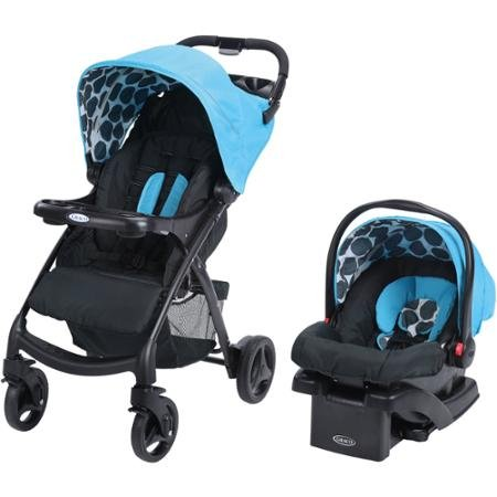 $209.89 Graco Car Seat Graco Verb Click Connect Travel System, with Snugride Click Connect 30 Infant Lightweight Stroller Comfortable Car Seat, Motif 2019
