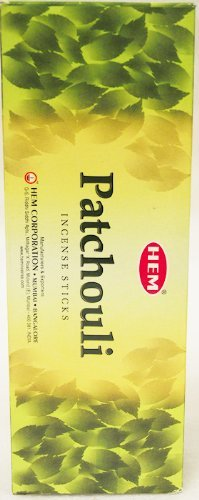 HEM Incense - Patchouli - 120 Sticks (6 pack of 20 sticks each)