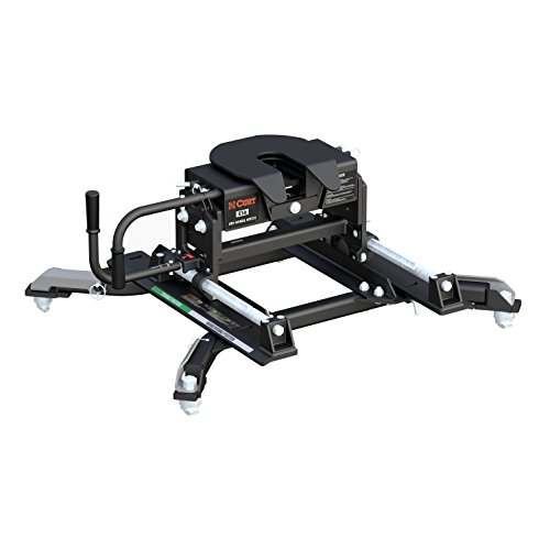 Curt Manufacturing 16684 E16 5th Wheel Hitch with Roller and Ram Puck System Adapter for Short Bed Trucks (16,000 lbs. GTW) -