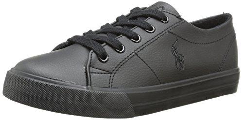 (Polo Ralph Lauren Kids Scholar Sneaker (Little Kid/Big Kid),Black,10.5 M US Little)