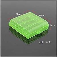 SUNXIN 4X Caja Plástico Estuches pa AA/AAA Batería