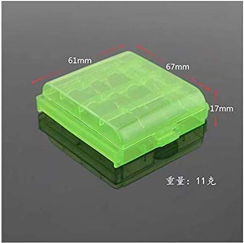 Caja de almacenamiento para pilas recargables Estuche casos box para 4 x AA Mignon o 4 x AAA Micro pilas More Power de Weiss bater/ía Conjunto de 5