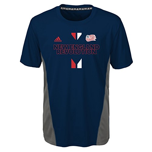 fan products of MLS New England Revolution BoysShort Sleeve Fan Nation Tee, Collegiate Navy, Large (14-16)