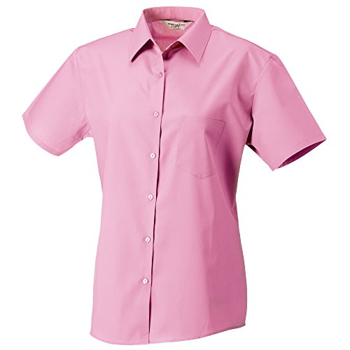 Russell Femme en Collection coton Rose manches courtes 100 popeline Vif Chemisier 6x6Pa1r8Z7