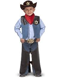 Cowboy Role Play Costume Set (5 pcs) - Includes Faux Leather Chaps