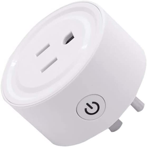 Haluoo Smart Plug Compatible with Alexa App Control Smart Socket Mini Remote Control Smart Outlet Support Echo Plus Voice Pairing /& Hub with Switch