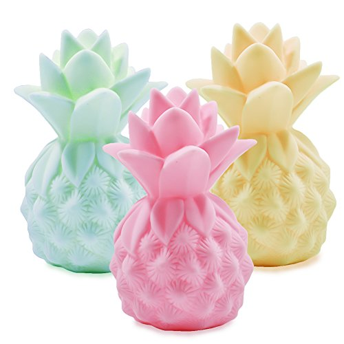 Pineapple Night Lights YiaMia LED Pineapple Lamp Pineapple Gifts for Girls Teens Pineapple Decor Pineapple Lights Pineapple Decorations for Home Party Living Room Bedroom Valentine's Gifts 3 Pack