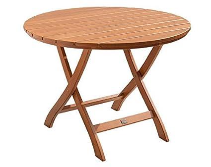 Gartentisch Mainau Klappbar 100 Cm Rund Nostalgie Aus Holz