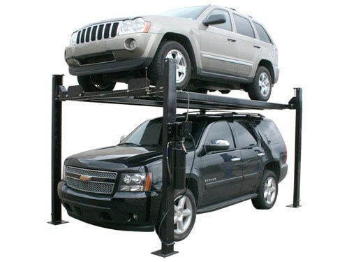 Atlas Garage Pro 8000 EXT Portable Hobbyist 8,000 Lbs. Capacity 4 Post Lift (EXTRA TALL) - Four Post Vehicle Lift