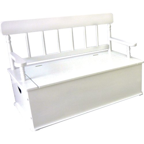 Wildkin White Toy Box Bench LOD33057