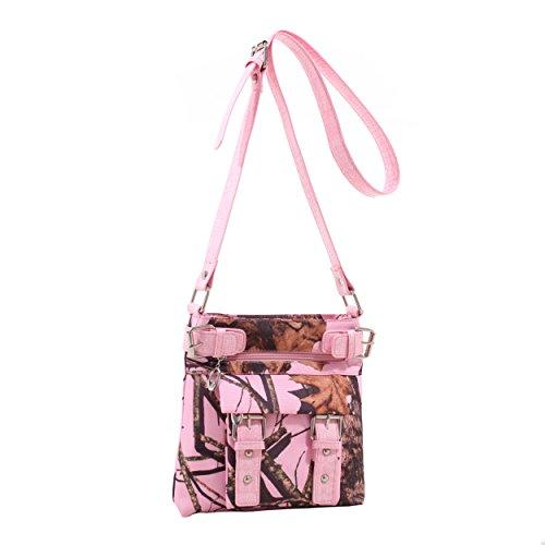 Pink Camouflage Messenger Bag - 7