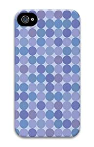 Blue Dots1 Polycarbonate Hard Case Cover for iPhone 4/4S 3D by icecream design