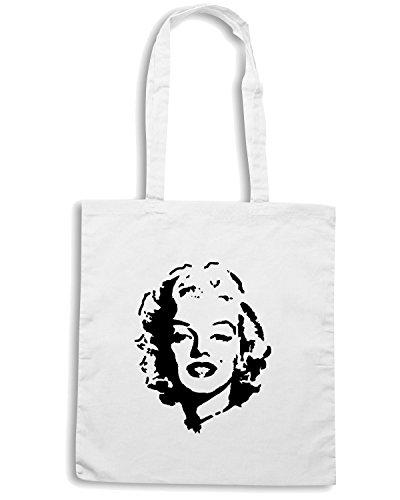 T-Shirtshock - Bolsa para la compra T0336 Marilyn vintage Blanco