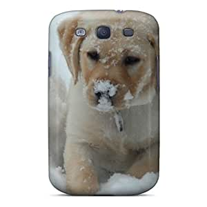 Fashion Tpu Cases For Galaxy S3- Puppy In Snow Defender Cases Covers