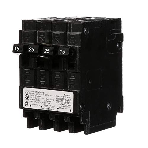 Siemens Q21525CT 15-Amp 1 Pole/25-Amp Double Pole 10-Kaic Circuit Breaker (20 15 Siemens)