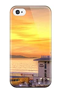 Iphone 4/4s Ntjlybx2516KRUnG Locations Hermosa Beach Tpu Silicone Gel Case Cover. Fits Iphone 4/4s