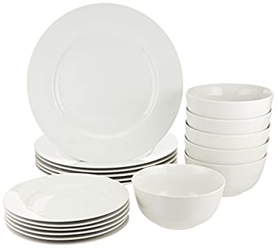 AmazonBasics 18-Piece Dinnerware Set, Service for 6