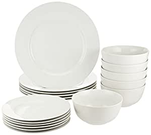 AmazonBasics 18-Piece Dinnerware Set Service for 6  sc 1 st  Amazon.com & Amazon.com | AmazonBasics 18-Piece Dinnerware Set Service for 6 ...