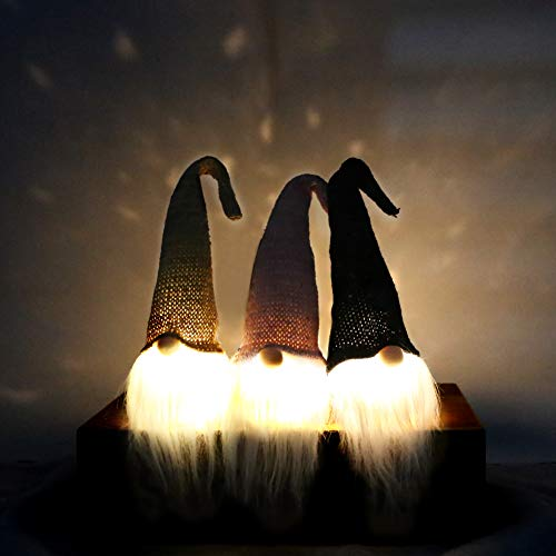 1Tomte Swedish Plush Santa Gnome, 3PCS Handmade Scandinavian Tomte Santa Scandinavian Gnome for Christmas Santa Decoration Table Decor