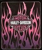 "50"" x 60"" Pink Harley Davidson Fleece Blanket"