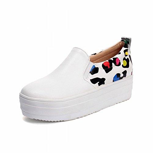 Boca Baja de la Tabla Impermeable con Las Botas de Las Mujeres de la Moda Del Color de la Lucha , blanco , EUR35