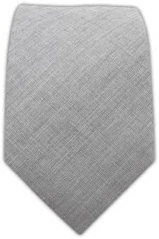 The Tie Bar 100% Cotton Solid Light Gray Skinny Tie
