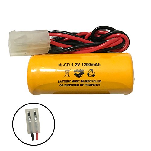 Lithonia ELB1P201N1 ELB-1P201N1 Lithonia ELB0300 ELB-0300 1.2v 1200mAh Ni-CD Battery Pack Replacement for Exit Sign Emergency Light