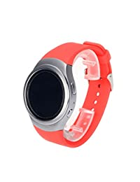 Watch Band, ABC Luxury Silicone Watch Band Strap for Samsung Galaxy Gear S2 SM-R720 (Red )