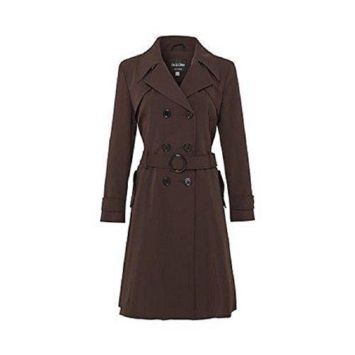 l'Hiver Manteau la De pour Trench Crme Marron Long Femme Chocolat Coat STWp1g8