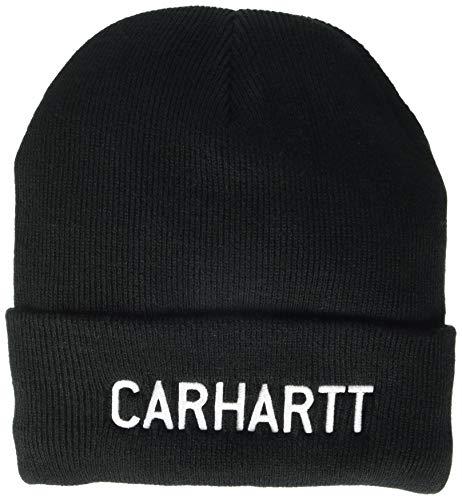 Carhartt-Womens-Knit-Fleece-Lined-Logo-Graphic-Beanie