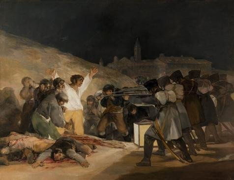 The High Quality Polyster Canvas Of Oil Painting 'Francisco Goya-The Third Of May,1808' ,size: 12x16 Inch / 30x40 Cm ,this High Definition Art Decorative Prints On Canvas Is Fit For Dining Room Decor And Home Decor And Gifts