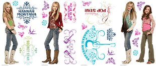 Hannah Montana Wall Decorations - Hannah Montana Stickers Removable Wall Stickers