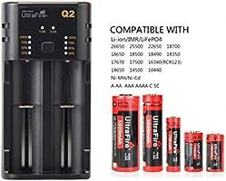 UltraFire Cargadores Pilas para AA/AAA/18650/14500/16340 ...