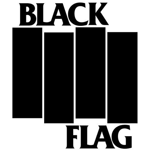 WHITE BLACK FLAG LOGO VINYL DECAL ()